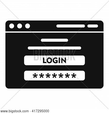 Login Personal Information Icon. Simple Illustration Of Login Personal Information Vector Icon For W