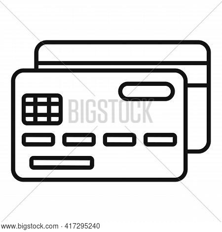 Bank Card Personal Information Icon. Outline Bank Card Personal Information Vector Icon For Web Desi