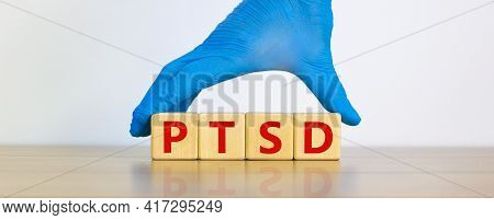Ptsd, Post-traumatic Stress Disorder Symbol. Concept Words 'ptsd, Post-traumatic Stress Disorder' On