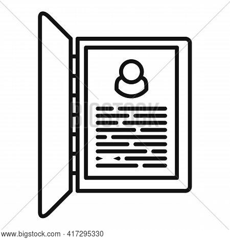 Personal Information Form Icon. Outline Personal Information Form Vector Icon For Web Design Isolate