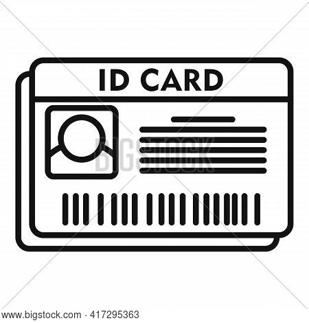 Id Card Icon. Outline Id Card Vector Icon For Web Design Isolated On White Background