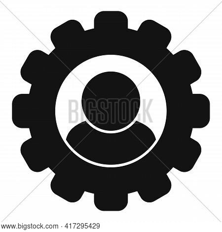 Gear Personal Traits Icon. Simple Illustration Of Gear Personal Traits Vector Icon For Web Design Is