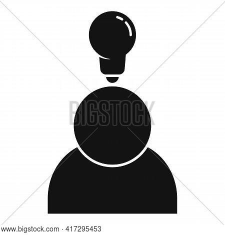 Bulb Idea Personal Traits Icon. Simple Illustration Of Bulb Idea Personal Traits Vector Icon For Web