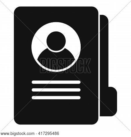 Folder Personal Traits Icon. Simple Illustration Of Folder Personal Traits Vector Icon For Web Desig