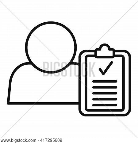 Personal Traits Icon. Outline Personal Traits Vector Icon For Web Design Isolated On White Backgroun