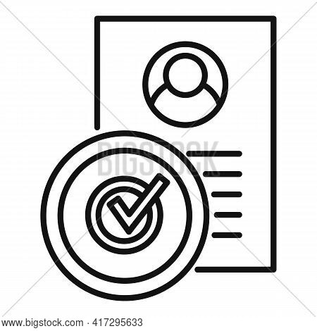 Approved Personal Traits Icon. Outline Approved Personal Traits Vector Icon For Web Design Isolated