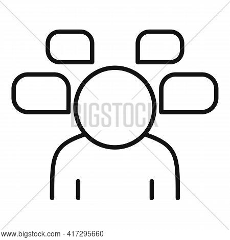 Question Personal Traits Icon. Outline Question Personal Traits Vector Icon For Web Design Isolated
