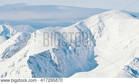 Bright Sunny Day In A Snowy Landscape - Barriers Covered With Snow. Snowy Mountains Zakopane - Kaspr