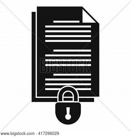 Document Access Authentication Icon. Simple Illustration Of Document Access Authentication Vector Ic