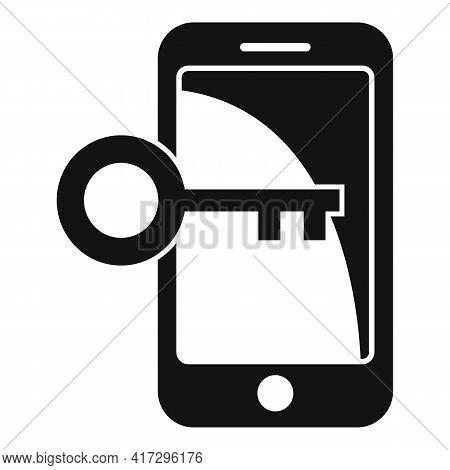 Phone Key Authentication Icon. Simple Illustration Of Phone Key Authentication Vector Icon For Web D