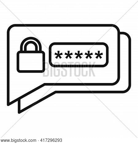 Sms Authentication Icon. Outline Sms Authentication Vector Icon For Web Design Isolated On White Bac