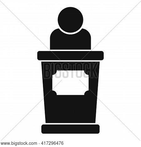 Empowerment Woman Speaker Icon. Simple Illustration Of Empowerment Woman Speaker Vector Icon For Web