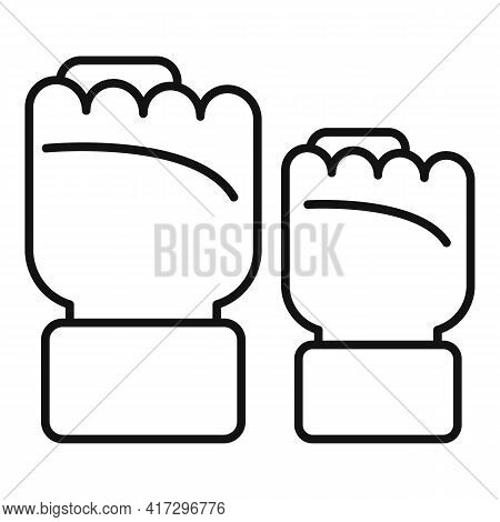 Empowerment Fist Icon. Outline Empowerment Fist Vector Icon For Web Design Isolated On White Backgro