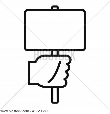 Empowerment Sign Board Icon. Outline Empowerment Sign Board Vector Icon For Web Design Isolated On W