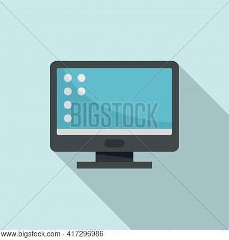 Monitor Operating System Icon. Flat Illustration Of Monitor Operating System Vector Icon For Web Des