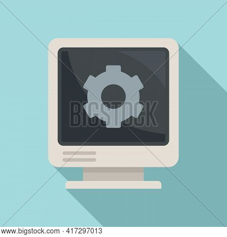 Fix Pc System Icon. Flat Illustration Of Fix Pc System Vector Icon For Web Design