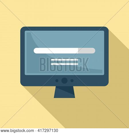 Loading Pc Software Icon. Flat Illustration Of Loading Pc Software Vector Icon For Web Design
