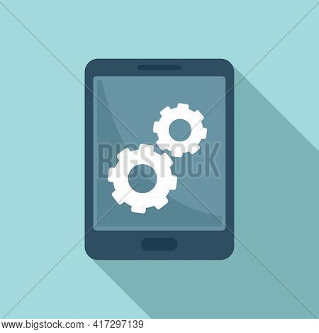 Update Software Tablet Icon. Flat Illustration Of Update Software Tablet Vector Icon For Web Design