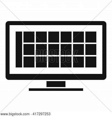Online Pc Software Icon. Simple Illustration Of Online Pc Software Vector Icon For Web Design Isolat