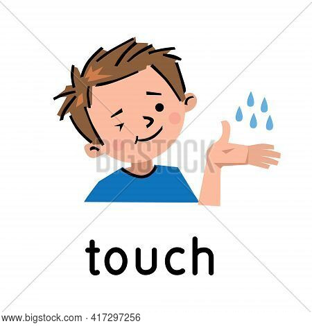 Touch. Icon Of One Of Five Senses