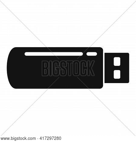 Usb Flash Icon. Simple Illustration Of Usb Flash Vector Icon For Web Design Isolated On White Backgr