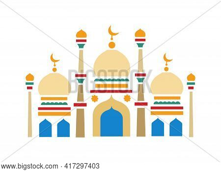 Islamic Mosque. The Holiday Of Ramadan, The Religion Of Islam. Construction In Islam. Stained Glass