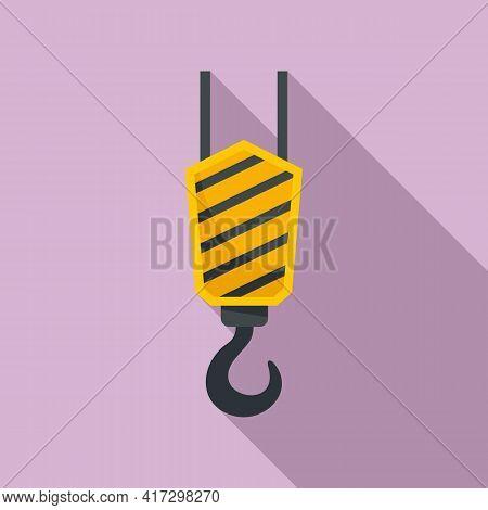 Crane Hook Icon. Flat Illustration Of Crane Hook Vector Icon For Web Design