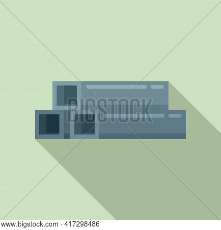 Structural Metal Bars Icon. Flat Illustration Of Structural Metal Bars Vector Icon For Web Design
