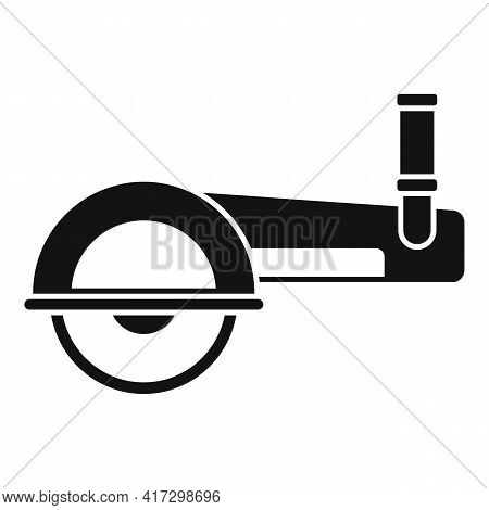 Angle Grinder Icon. Simple Illustration Of Angle Grinder Vector Icon For Web Design Isolated On Whit