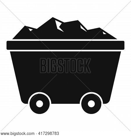 Wagon Cart Icon. Simple Illustration Of Wagon Cart Vector Icon For Web Design Isolated On White Back