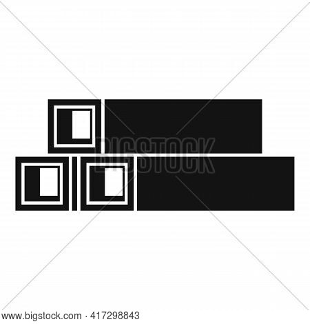 Structural Metal Bars Icon. Simple Illustration Of Structural Metal Bars Vector Icon For Web Design