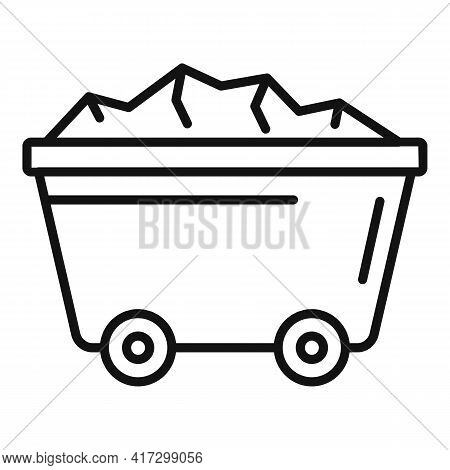 Wagon Cart Icon. Outline Wagon Cart Vector Icon For Web Design Isolated On White Background