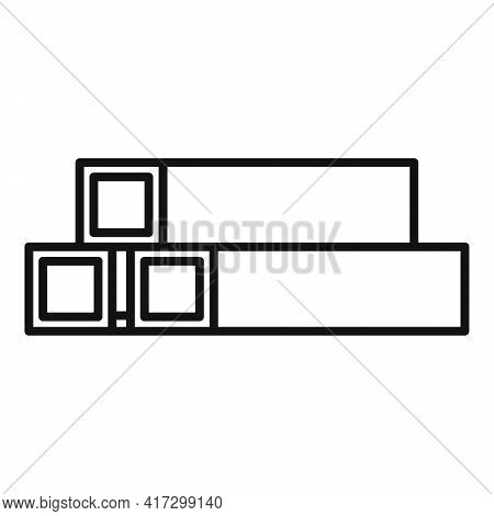 Structural Metal Bars Icon. Outline Structural Metal Bars Vector Icon For Web Design Isolated On Whi
