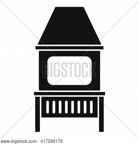 Blacksmith Oven Icon. Simple Illustration Of Blacksmith Oven Vector Icon For Web Design Isolated On