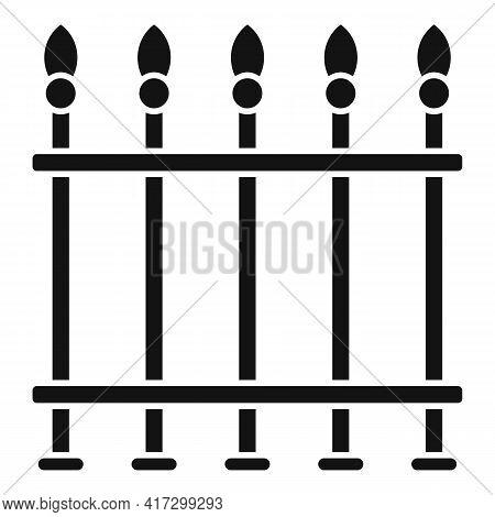 Blacksmith Metal Fence Icon. Simple Illustration Of Blacksmith Metal Fence Vector Icon For Web Desig