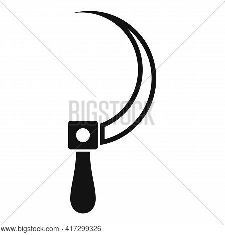 Blacksmith Sickle Icon. Simple Illustration Of Blacksmith Sickle Vector Icon For Web Design Isolated