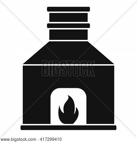 Blacksmith Fireplace Icon. Simple Illustration Of Blacksmith Fireplace Vector Icon For Web Design Is