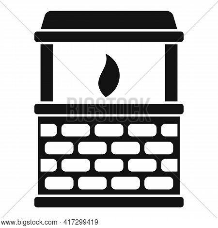 Blacksmith Fire Icon. Simple Illustration Of Blacksmith Fire Vector Icon For Web Design Isolated On