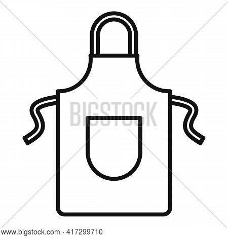 Blacksmith Apron Icon. Outline Blacksmith Apron Vector Icon For Web Design Isolated On White Backgro
