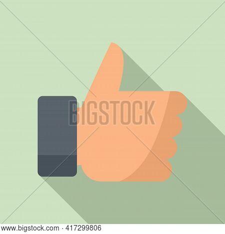 Attestation Like Icon. Flat Illustration Of Attestation Like Vector Icon For Web Design