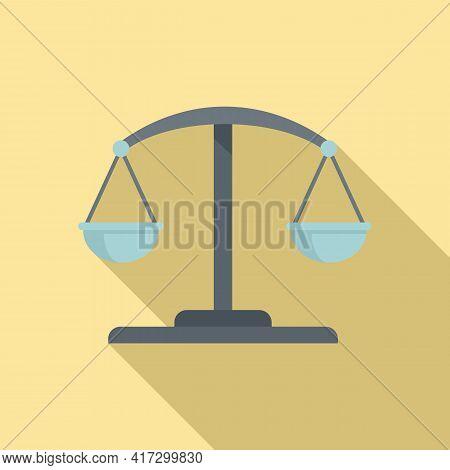 Attestation Service Balance Icon. Flat Illustration Of Attestation Service Balance Vector Icon For W