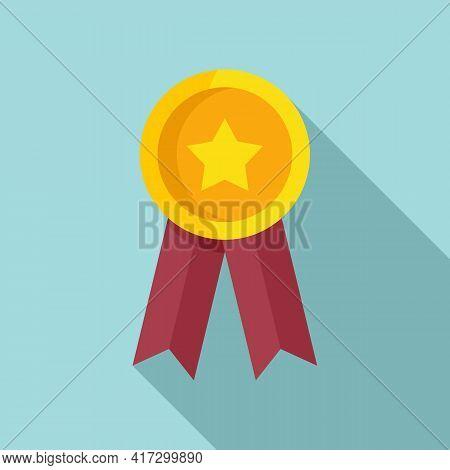 Attestation Emblem Icon. Flat Illustration Of Attestation Emblem Vector Icon For Web Design