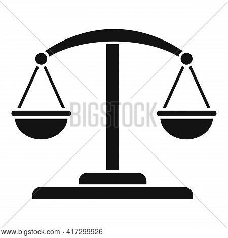 Attestation Service Balance Icon. Simple Illustration Of Attestation Service Balance Vector Icon For