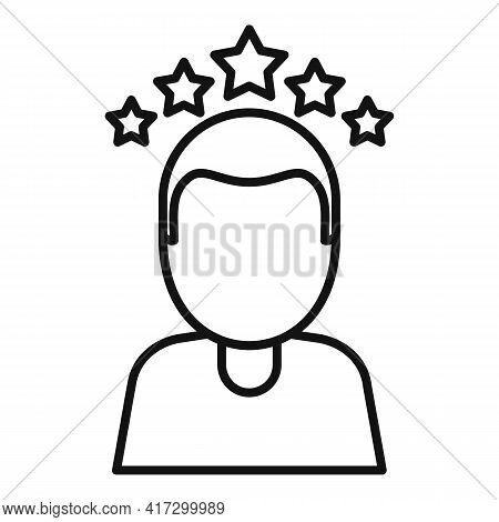 Attestation Rating Icon. Outline Attestation Rating Vector Icon For Web Design Isolated On White Bac