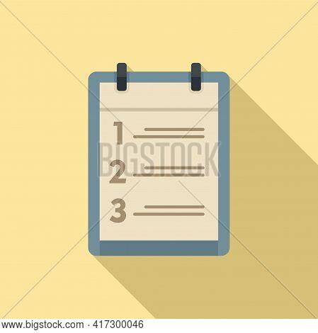 Habit Clipboard Icon. Flat Illustration Of Habit Clipboard Vector Icon For Web Design