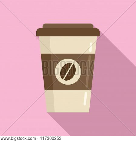 To Go Coffee Cup Icon. Flat Illustration Of To Go Coffee Cup Vector Icon For Web Design