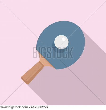 Ping Pong Pad Icon. Flat Illustration Of Ping Pong Pad Vector Icon For Web Design