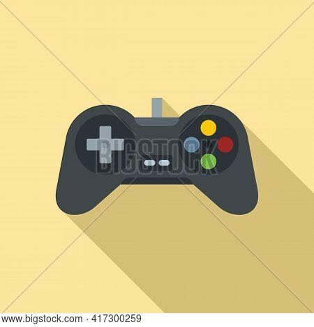 Video Game Joystick Icon. Flat Illustration Of Video Game Joystick Vector Icon For Web Design