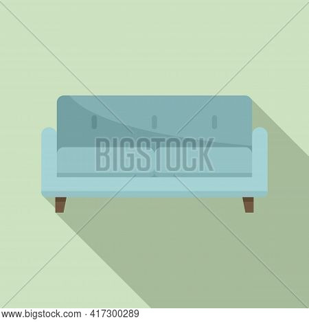 Soft Sofa Icon. Flat Illustration Of Soft Sofa Vector Icon For Web Design
