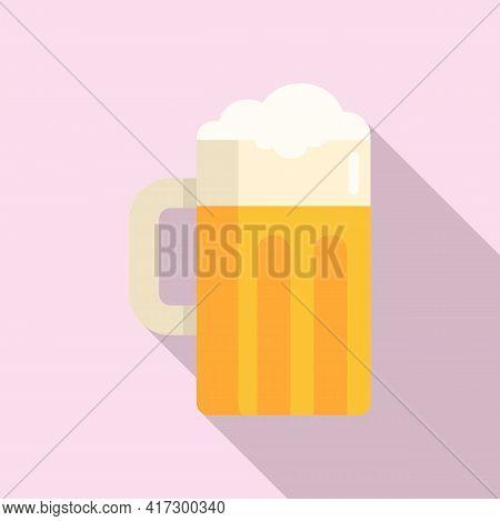 Beer Mug Icon. Flat Illustration Of Beer Mug Vector Icon For Web Design